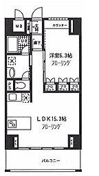 神奈川県横浜市中区長者町3丁目の賃貸マンションの間取り