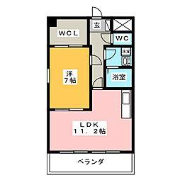 マンションローズVII[3階]の間取り