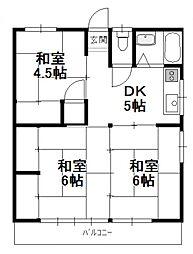 矢野コーポ(大王町)[A102号号室]の間取り