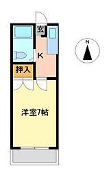 栃木県宇都宮市山本1丁目の賃貸アパートの間取り