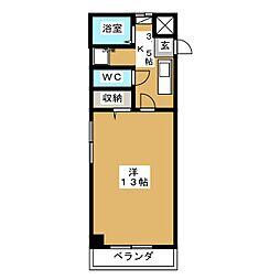 岡山県岡山市北区東古松2の賃貸マンションの間取り