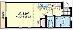 新杉田壱番館[102号室]の間取り