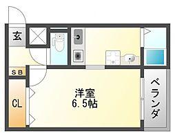 カミニート円山町[2階]の間取り