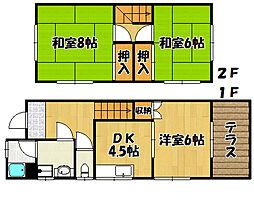 [テラスハウス] 兵庫県明石市小久保3丁目 の賃貸【兵庫県 / 明石市】の間取り