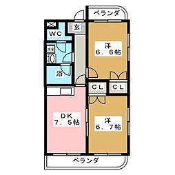 二丁目マンション2[2階]の間取り