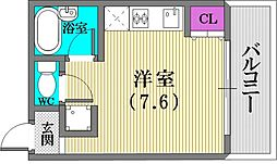 永光ビルディング[203号室]の間取り