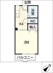 カーサ江島II B棟[1階]の間取り