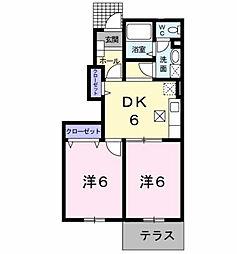 グレイスフル高蔵[1階]の間取り