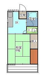 ウエストハイツ[1階]の間取り