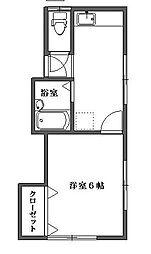 能島アパート[2階]の間取り