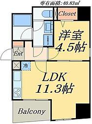 グランドルチェ北上野 3階1LDKの間取り