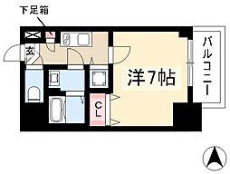 エスプレイス鶴舞ガーデンテラス 11階1Kの間取り