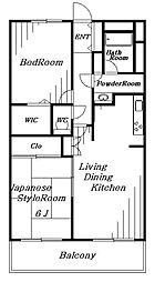 ファインビュー千葉[3階]の間取り