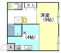 オリオンコーポ[1階]の間取り