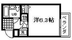 シャルマンフジ久米田弐番館[401号室]の間取り
