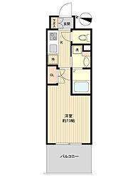 レジディア仙台上杉 11階1Kの間取り