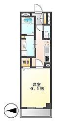 カスタリア新栄II[5階]の間取り