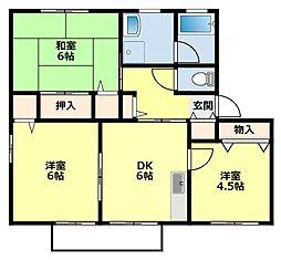 愛知県豊田市朝日町5丁目の賃貸アパートの間取り
