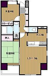 ガーデンプラム[5階]の間取り