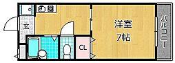 ラヴェニュー西牧野[2階]の間取り
