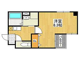 鶴橋末広ビル2[5階]の間取り