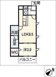 仮)幸心2丁目新築アパートA棟[2階]の間取り