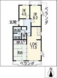 シンパティア[2階]の間取り