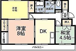 レインボーハウス有秋台西C36棟[2階]の間取り