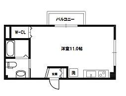 モモハウス小松[4階]の間取り