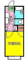 石井ハイツII[1階]の間取り