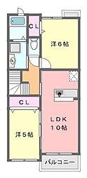 フルールIII[2階]の間取り