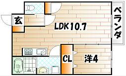 カルプシャンテ[6階]の間取り