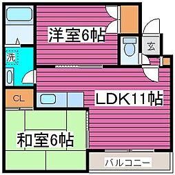 北海道札幌市東区北四十三条東13丁目の賃貸アパートの間取り