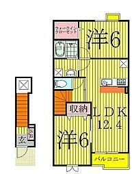 千葉県柏市手賀の杜4丁目の賃貸アパートの間取り