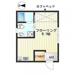 ポートハウス3[23号室号室]の間取り