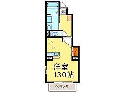 愛知県半田市乙川新町2丁目の賃貸アパートの間取り