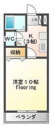 メゾンロイヤルつるた[3階]の間取り