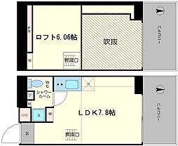 是空NANBANISHI[705号室]の間取り