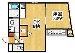 Pear Residence Minato[203号室]の間取り