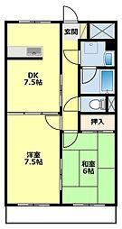 愛知県豊田市中根町永池の賃貸マンションの間取り