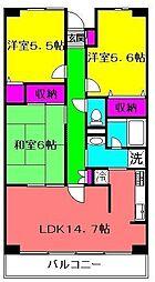 ルーチェ緑が丘A棟[118号室]の間取り