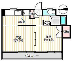 第二豊田マンション[2階]の間取り