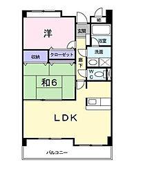 東京都調布市佐須町2丁目の賃貸マンションの間取り