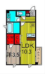 アンプルールフェールクローバー[3階]の間取り