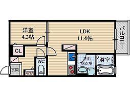 オーク太田2[2階]の間取り