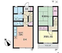 [テラスハウス] 神奈川県藤沢市大鋸2丁目 の賃貸【/】の間取り