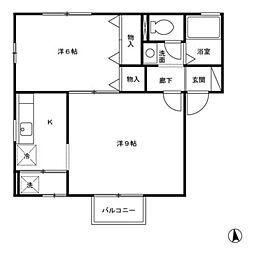 ヴィヴレ横川 B[2階]の間取り