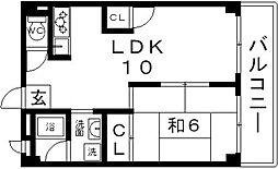杉田ビル[301号室号室]の間取り