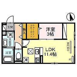 (仮称)D-room住吉 1階1LDKの間取り
