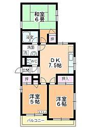 カネカ坂本第3マンション[301号室]の間取り
